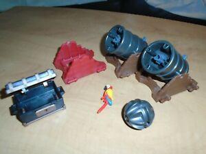 Playmobil cannonball & large cannon treasure chest parrot set 4133 pirate castle
