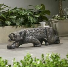 Christopher Knight Animal Leopard Out Door Concrete Bench Patio Furniture Cheap