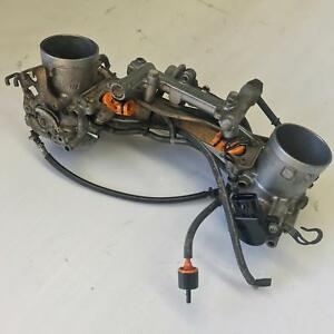 Throttle bodies air intake manifold fuel injectors EFI CAGIVA RAPTOR 1000 M2 05
