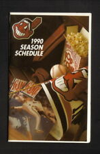 Cleveland Indians--1990 Pocket Schedule--WUAB/Michelob Dry/Busch