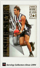 2004 Select AFL Ovation Series 300 Game Case Card Cc13 Francis Bourke (richmond)