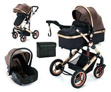 Trally® 3 in 1 Kombi-Kinderwagen Babywanne Buggy Reisebuggy & Auto-Babyschale 11