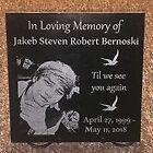 "Loved one memorial plaque 12"" x 12"" black granite w/ custom picture & words"