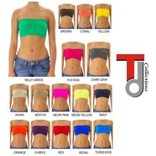 Fashion Women Tube Top With Removable Pad - TD Collections