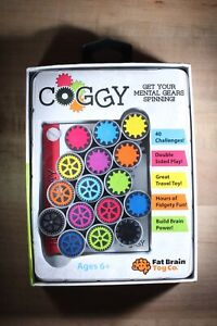 Coggy Fat Brain Toy Co. 40 Brainteasing Puzzles Bend Rotate Shape Mind Game