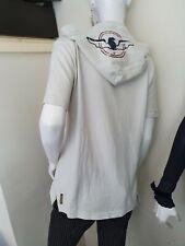 Armani Designer Womens Ivory Hooded Cardigan Hoodie Blouse Top Size M BNWT