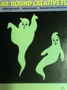 Giant Glow in the Dark Ghosts 2 per pack Vintage Stik-EES Window Clings Vinyl