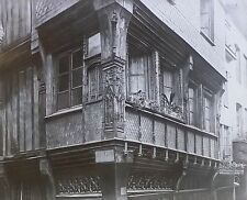 House at Corner of Foruchettes & Bac, Rouen, France, Magic Lantern Glass Slide