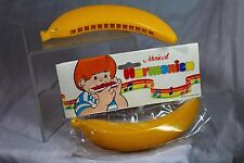 Vtg Banana Harmonica Hong Kong Plastic Toy NOS In Package Realistic Mid Century