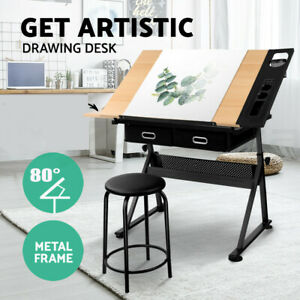 Adjustable Drafting Table Drawing Craft Art Hobby Board Home PC Desk Kids Easel