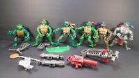 TMNT Teenage Mutant Ninja Turtles 15 Pc LOT Action Figure & Weapons 2002-13 Toy