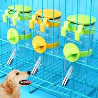 350-500ml Pet Dog Water Drinker Dispenser Hanging Fountain Bottle Animal Feeder