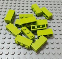 LEGO Lot of 12 Lime Green 1x3 Classic Creator Building Brick Pieces