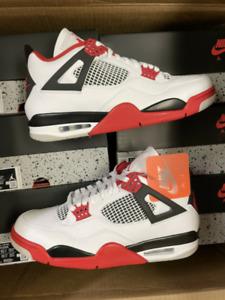 Nike Air Jordan Retro IV 4 Fire Red 2020 Black White Tech Gray for M And W