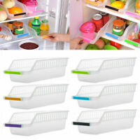 Kitchen Fridge Space Saver Organizer Slide Under Shelf Rack Holder Storage J2Y3