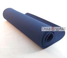 TPE Yoga Mat 183 x 61 cm Thickness : 8mm - Dark Blue
