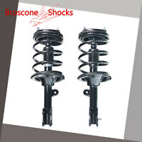 AutoShack CST100526PR Pair of 2 Front Driver and Passenger Side Complete Strut Shock Spring Assembly Replacement for 2007-2009 Hyundai Santa Fe AWD FWD 2.7L 3.3L