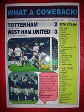 Tottenham Hotspur 2 West Ham United 3 - 2017 EFL Carabao Cup - souvenir print