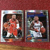 🔥🔥2019-20 NBA Hoops Premium Stock Damian Lillard Lot of 2 Pulsar Prizms🔥🔥