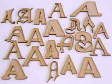 MDF Wood Letters and Shapes 3mm Thickness Various Fonts 50mm - 300mm