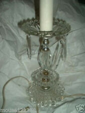 Vintage Crystal Prisims Table Lamp   Bubble Pattern