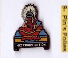 P1# Pin's Voiture car Peugeot Occasion du Lion Indien