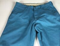 Life Khaki Pants Blue Mens 36 x 30 Haggar Casual Cotton Polyester Blend Straight