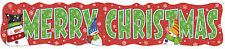 Giant 4ft Merry Christmas Card Banner - 1.31 m- Snowman Xmas Party Decoration
