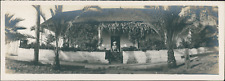 USA, Pasadena (California), San Gabriel Mission Vintage silver print. Panoramic