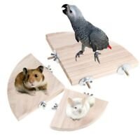 Small Parrot Platform Stand Rack Toy Hamster Branch Perches For Bird Cage Wooden