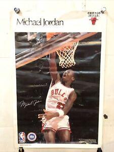 Vintage 1980s Michael Jordan Sports Illustrated Poster Chicago Bulls