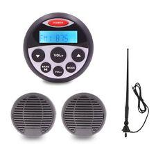 """Marine Stereo Package 3"""" Boat Speakers 160W Waterproof Radio Motorcycle antenna"""