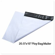 "100 LARGE POLY BAG 15''x 20.5"" POSTAL MAILING ENVELOPES SELF-SEALING MAILER"
