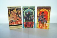 Lot of 3 VHS Wu Tang Collection Ol Dirty Kung Fu & Sacred Fist + Penitentiary
