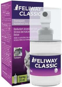 FELIWAY CLASSIC SPRAY Calming Comfort Stress And Travel Relief For Cats 20Ml