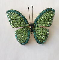 Unique Green Butterfly Brooch Pin