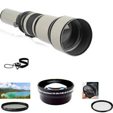 650-1300mm Lens KIT For Canon T7I 77D 90D 80D 7D 6D 5D SL3 SL2 T6S 750D 700D T6I