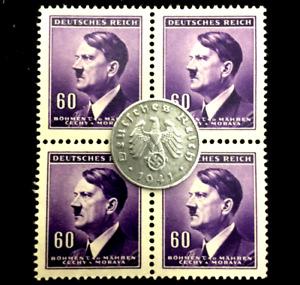 Rare WW2 German 1 Reichspfennig & Unused Stamps Authentic WW2 Artifacts