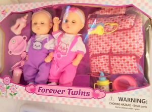 """Lovee Dolls Forever Twin Baby Dolls 14"""" tall"""