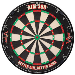 Viper AIM 360 Tournament Bristle Steel Tip Dartboard Set with Staple-Free Raz...