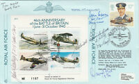 46th Anniversary  Battle of Britain  Signed by 5 Battle of Britain Pilots Crew