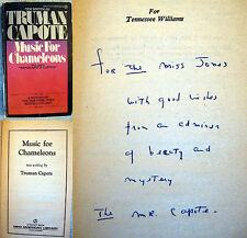 1981 TRUMAN CAPOTE INSCRIBED SIGNED MUSIC FOR CHAMELEONS