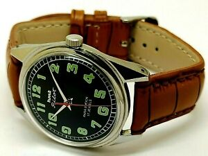 genuine hmt pilot mechanical hand winding men steel vintage watch working order
