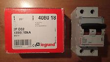 Legrand 408018 - Disjoncteur 32A - Mono 2P - Courbe D (moteur-Clim)
