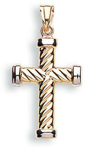 Cross Pendant White Gold Cross Yellow Gold Cross Two Colour Gold Cross