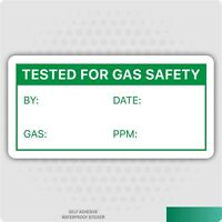 Tested for Gas Safety Self Adhesive Labels - Gas Appliance Inspection Stickers