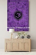 Om Mandala Print Purple Tapestry Wall Decor Dorm Decor Poster Yoga Mat Bohemian