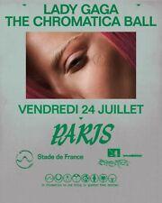 Lady Gaga Chromatica ball tour- golden circle - stade de France - 24 juillet