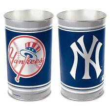 Wincraft MLB New York Yankees Metal Trash Can Waste Basket Garbage Can new