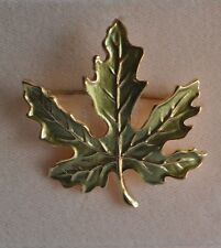 Pin In Gold Tone Kirks Folly Fall Autumn Leaf
